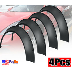 4x Flexible Car Fender Flares Cover Kit Wide Body Wheel Panel Scratch Protector
