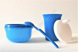 Tupperware Childrenand039s Sipper Cup Snack Cup And Hang-on Spoon Blue