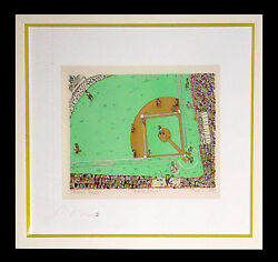 James Rizzi Baseball 3-d 1983 Ltd Ed Matted And Framed Serigraph 65 Of 125