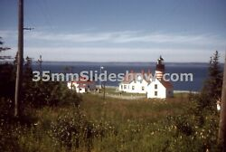 T028_124 35mm Slide 1961 Me West Quoddy Head Lighthouse