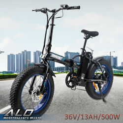 Folding Electric Bicycle Beach City Ebike 7 Speed 20500w 36v 13ah Fat Tire