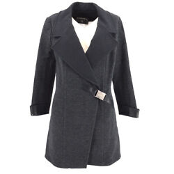 00a 36 Double Breasted Long Sleeve Coat Jacket Gray Authentic 05784