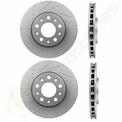 Slotted Front And Rear Brake Rotors Discs Fits 2015-2018 Jeep Renegade