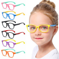 Computer Glasses Blue Light Blocking Glasses Silicone Video Gaming Kids Glasses` $9.49