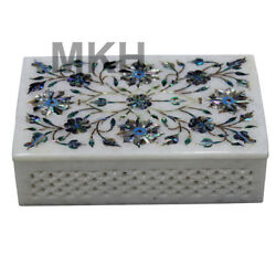 Marble Inlay Jewelry Box Trinket Vintage Jewellery Boxes Marquetry Antique Art