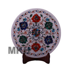 Marble Plate Antique Serving Decor Home Gifts Inlay Work Stones Serving Vintage