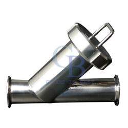 3/4 Sanitary Pipe Filter Stainless Steel 316 Inline Y Strainer Filter 100 Mesh