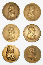 U.s. Mint Vintage Reproduction Bronze Indian Peace Medals, 20th Century