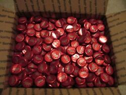 1500 Budweiser King Of Beers Red White Beer Bottle Caps Crowns Arts Crafts Pong