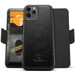 Removable Leather Wallet Magnetic Card Case For iPhone 12 11 Pro XR XS Max Mini