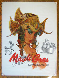 1979 Mardi Gras Poster By Larry Harris, Rare Numbered, Year Of Police Strike