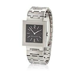 Bvlgari Stainless Steel Square Dial Unisex Watch
