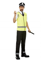Police Officer Costume Top Trousers Hat Cuffs And Truncheon Cost-m New