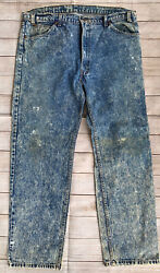 Vintage Usa Made 1980andrsquos Jeans 40x32 Acid Wash Grungy 80s Orange Tab