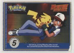 1999 Pokemon The First Movie - Collectible Scene Magazine Cards Ash Dives 02sa