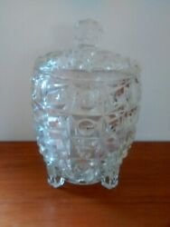 Extremely Rare Vintage Glass Pineapple Ice Bucket