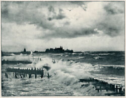 High Tide At Coney Island Vintage 1894 Photogravure Sun And Shade E. Edwards Photo