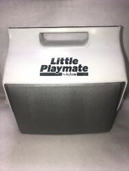 Vintage Little Playmate Igloo Cooler Gray and White Shipped In Poly Bag $19.67