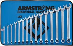 Armstrong 52-682 15 Piece 12 Point Metric Combination Wrench Set