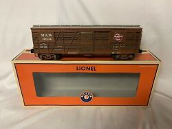 ✅lionel Milwaukee Road Cmstpandp 40-ton Stock Car Factory Weathered 6-52466