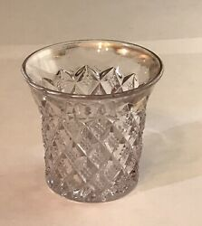 Antique Fostoria Sylvan 1119 Crystal Clear Glass Toothpick Holder Or Shot Glass