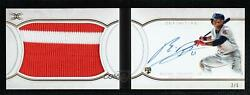 2018 Topps Definitive Collection Booklet /5 Rafael Devers Rpa Rookie Patch Auto