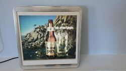 1989 Michelob Dry Motion Light-up Electric Bar Sign 395-520 Wave Hitting Bottle