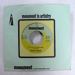 Harlan Howard 45 I Cant Stand It/its All In Your Mind Monument Rockabilly Jr1376