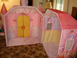 Playskool Sweet Lily Castle Indoor Fabric Playhouse. Excellent Condition.