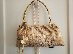 Italian Leather Gold evening bag New $49.95