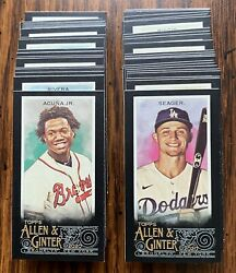 2020 Topps Allen amp; Ginter X Mini #1 350 Black Border Online Exclusive YOU PICK