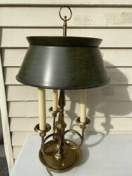Vintage Brass French Horn Style Bouillotte Frederick Cooper Table Lamp
