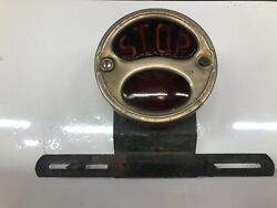 Vintage Vedette Stop Tail Tag Light Lamp Glass Lens Truck Old Car Auto 1920's