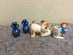 Lot Of Vintage Occupied Japan Figurines-scottie Dog With Ball