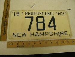 1963 63 New Hampshire Nh License Plate 784 Three Digit Low Photoscenic