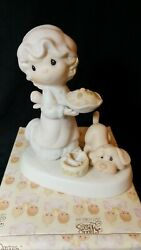 PRECIOUS MOMENTS Figurine 1991 quot;DROPPING OVER For CHRISTMASquot; E 2375 Vessel Mark $4.99