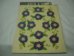 Vintage Decals By Meyercord Purple Pansy Flowers Crafts Decal Stickers 70#x27;s Mod