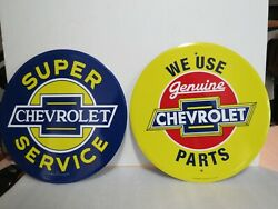 We Use Genuine Chevrolet Parts And Super Chevrolet Service 12 Metal Signs