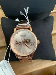 COACH 14503076 ROSE GOLD STAINLESS STEEL ROSE GOLD WOMEN#x27;S WATCH$195🌈 $129.99