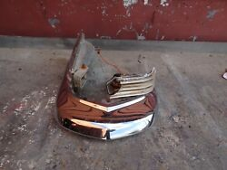 1963 Cadillac Passenger Side Front Bumper End And Side Marker Light Assembly.