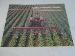 Case International 183 Row Crop Cultivators And 181 Rotary Hoes Sales Brochure