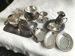 Silver And Silver Plate Dinner And Kitchen Set By Wm Rogers And Other