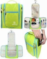 Freegrace Lime Green Hanging Organizer Toiletry Cosmetic Dopp Kit Travel Bag NEW $12.99