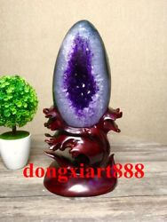 30 Cm Natural Amethyst Crystal Lucky Feng Shui Specimen Energy Heal Statue F122