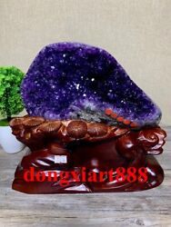 24 Cm Natural Amethyst Crystal Lucky Feng Shui Specimen Energy Heal Statue F160