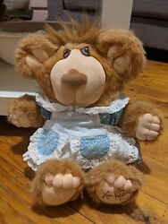 Xavier Roberts Vintage Furskin Bear With Clothes 1985 Collectables Toys