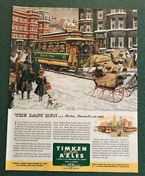 Last of the Horse Drawn Trolley Trains end of an era Boston Christmas Eve Ad
