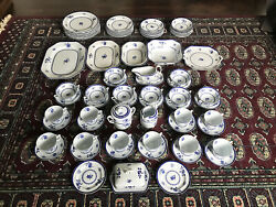 Spode England Fine Stone Y2989 Gloucester Dinner And Breakfast Set Of 83