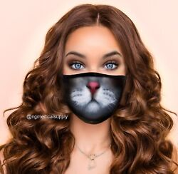 washable reusable Adult Cat tongue face mask cover