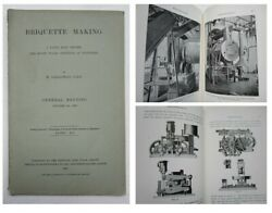 1909 Coal Mining Briquette Making South Wales Engineers Victorian Engineering